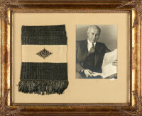 "Cecil B. DeMille by George Hurrell (1930s). Very Fine+. Framed Photo & Scarf (34"" X 27.5"")"