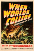 """Movie Posters:Science Fiction, When Worlds Collide (Paramount, 1951). Fine+ on Linen. One Sheet (27"""" X 41"""").. ..."""