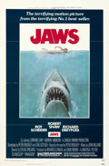 Movie Posters:Horror, Jaws (Universal, 1975). Folded, Very Fine. One She...