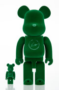 Collectible, BE@RBRICK X The PARK-ING GINZA. Spring Has Come 400% and 100% (two works), 2017. Cast resin with flocking. 11 x 5-1/... (Total: 2 Items)