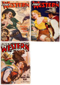 Pulps:Western, Spicy Western Stories Group of 3 (Culture, 1936-39) Condit...