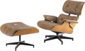 Furniture, Charles Eames (American, 1907-1978) and Ray Kaiser Eames (American, 1912-1988). Lounge Chair #670 and Ottoman #671, desi... (Total: 2 Items)