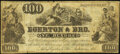 """Obsoletes By State:Maryland, Baltimore, MD- Egerton & Bro. """"100"""" Advertising Note ND Vlack 1430 Fine.. ..."""