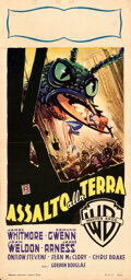 Movie Posters:Science Fiction, Them! (Warner Bros., 1954). Folded, Very Fine-. It...