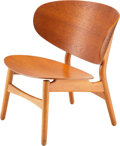 Furniture, Hans J. Wegner (Danish, 1914-2007). Venus Chair, designed 1948, Fritz Hansen . molded teak plywood, beech. 27-1/4 x 28 x...