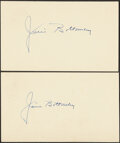 """Autographs:Post Cards, 1951 Jim Bottomley Signed Post Cards. Nicknamed """"..."""