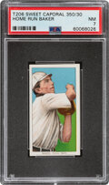 Baseball Cards:Singles (Pre-1930), 1909-11 T206 Sweet Caporal 350/30 Home Run Baker PSA NM 7 - Pop Two, Only One Higher For This Brand/Series/Factory Combination...