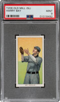 Baseball Cards:Singles (Pre-1930), 1909-11 T206 Old Mill Harry Bay PSA Mint 9 - Pop One, None Higher For This Brand! ...