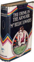Books:Mystery & Detective Fiction, [Marie] Belloc Lowndes. The Chink in the Armour. London: Methuen & Co., Ltd., 1912. First edition. Signed and ...