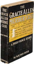 Books:Mystery & Detective Fiction, S. S. Van Dine. The Gracie Allen Murder Case. New York: Charles Scribner's Sons, 1938. First edition, advanced r...