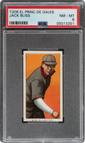 Baseball Cards:Singles (Pre-1930), 1909-11 T206 El Principe De Gales Jack Bliss PSA NM-MT 8 - Pop One, None Higher With This Brand!...