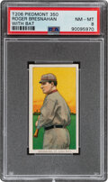 Baseball Cards:Singles (Pre-1930), 1909-11 T206 Piedmont 350 Roger Bresnahan (With Bat) PSA NM-MT 8 - Pop Four, None Higher With This Brand & Series. ...