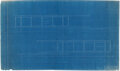 Works on Paper, Ludwig Mies van der Rohe (German, 1886-1969). Blueprint for the Farnsworth House, Plano, Illinois, 1949. Cyanotype on pa...