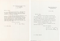 "[Willard H. Wright]. Two S. S. Van Dine Typed Letters Signed ""S. S. Van Dine."" New York: 1928, 1930"
