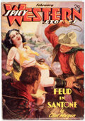 Pulps:Western, Spicy Western Stories - February 1937 (Culture) Condition: VG+....