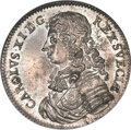 Sweden, Sweden: Carl XI Restrike Riksdaler 1676-Dated MS66★ NGC,...
