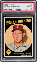 Baseball Cards:Singles (1950-1959), 1959 Topps Sparky Anderson #338 PSA Gem Mint 10 - Pop Two. ...
