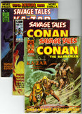 Magazines:Miscellaneous, Savage Tales and Kull and the Barbarians Group (Marvel, 1974-75)Condition: Average FN.... (Total: 6)