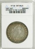 Early Half Dollars: , 1807 50C Draped Bust--Cleaned--ANACS. VF30 Details. O-102. NGCCensus: (156/566). PCGS Population (58/437). Mintage: 301,07...