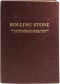 Music Memorabilia:Memorabilia, Rolling Stone Magazine #31-45 Bound Volume. A collection of 15vintage issues of the groundbreaking magazine, dating from Ap...