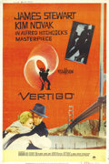 "Movie Posters:Hitchcock, Vertigo (Paramount, 1958). Poster (40"" X 60"") Style Y. DirectorAlfred Hitchcock's psychological thriller about obsession an..."
