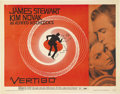 "Movie Posters:Hitchcock, Vertigo (Paramount, 1958). Half Sheet (22"" X 28"") Style A. JamesStewart stars in one of Alfred Hitchcock's best pictures as..."