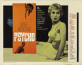 "Movie Posters:Hitchcock, Psycho (Paramount, 1960). Half Sheet (22"" X 28"") Style A.Hitchcock's foray into psychological obsession had been a corethe..."