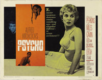 "Psycho (Paramount, 1960). Half Sheet (22"" X 28"") Style A. Hitchcock's foray into psychological obsession had b..."