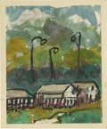 Texas:Early Texas Art - Impressionists, JOSEPHINE MAHAFFEY (American, 1903-1982). Untitled, landscape.Watercolor on paper, mounted on mat board. 11in. x 9in.. ...
