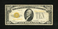 Small Size:Gold Certificates, Fr. 2400 $10 1928 Gold Certificate. Fine.. This $10 Gold has less folds than normal for the assigned grade....