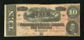 Confederate Notes:1864 Issues, T68 $10 1864. This is a 4 Series note with sound edges. Fine+....