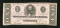 "Confederate Notes:1863 Issues, T62 $1 1863. A pencilled ""8"" is found on the back. CrispUncirculated...."