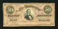 Confederate Notes:1864 Issues, T66 $50 1864. This is an example of the scarcer dark red variety. Fine....