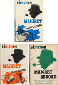 Books:Mystery & Detective Fiction, Georges Simenon. Group of Three Maigret Novels. New York: Harcourt, Brace and Company, [1940]. First American editions.... (Total: 3 Items)