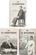 Books:Mystery & Detective Fiction, Georges Simenon. Three Magistrate Froget and Detective Leborgne Novels: Les 13 Coupables; Les 13 Énigmes; Le...