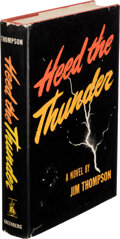 Books:Mystery & Detective Fiction, Jim Thompson. Heed the Thunder. New York: Greenberg, [1946]. First edition....