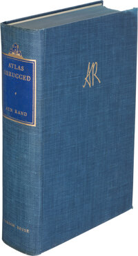 Ayn Rand. Atlas Shrugged. New York: Random House, [1967]. Ninth printing. Special 10th Annivers