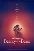 "Movie Posters:Animation, Beauty and the Beast (Buena Vista, 1991). Rolled, Very Fine-. One Sheet (27"" X 40"") DS Advance, John Alvin Artwork. Animatio..."