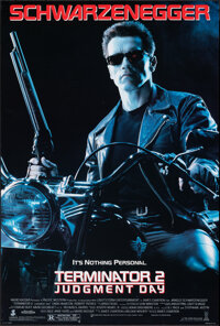 """Terminator 2: Judgment Day (Tri-Star, 1991). Rolled, Very Fine+. One Sheet (26.75"""" X 39.75"""") DS. Science Ficti..."""
