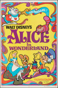 "Movie Posters:Animation, Alice in Wonderland (Buena Vista, R-1974). Folded, Very Fine. One Sheet (27"" X 41""). Animation.. ..."