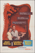 """Movie Posters:Action, Blood Alley (Warner Bros., 1955). Folded, Very Fine-. One Sheet (27"""" X 41""""). Action.. ..."""