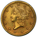 Gold Dollars, 1852-D G$1 -- Surfaces Smoothed -- PCGS Genuine. AU Details....