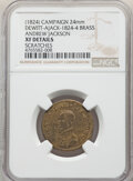 (1824) Andrew Jackson Campaign Medal, DeWitt AJACK-1824-4, Brass -- Scratches -- NGC Details. XF. 24mm. This lot will...