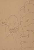 Works on Paper, KAWS (b. 1974). Untitled, 2005. Ink on paper. 10 x 7-1/4 inches (25.4 x 18.4 cm) (sheet). Signed, dated, and inscribed t...