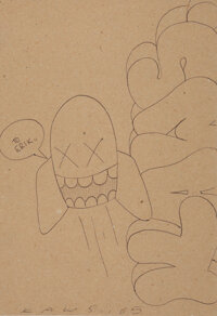 KAWS (b. 1974) Untitled, 2005 Ink on paper 10 x 7-1/4 inches (25.4 x 18.4 cm) (sheet) Signed