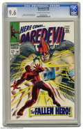Silver Age (1956-1969):Superhero, Daredevil #40 (Marvel, 1968) CGC NM+ 9.6 Off-white to white pages. Gene Colan cover and art. Overstreet 2004 NM- 9.2 value =...