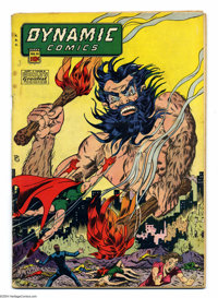 Dynamic Comics #20 (Chesler, 1946) Condition: VG. Bare breasted woman on cover. Overstreet 2004 VG 4.0 value = $136