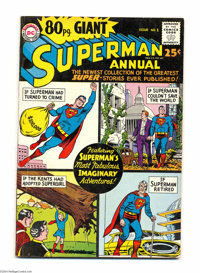 80 Page Giant #1 (DC, 1964) Condition: VG/FN. Superman appears. Curt Swan cover art. Al Plastino, Curt Swan, and Jim Moo...