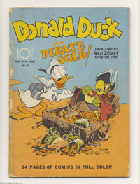 Four Color #9 (Dell, 1942) Condition: GD. First original Donald Duck story. Carl Barks' first comic book work on Donald...