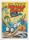 Golden Age (1938-1955):Cartoon Character, Four Color Donald Duck #318 (Dell, 1951) Condition: VG. A friendlymonster pops up in the middle of Donald and his nephews b...